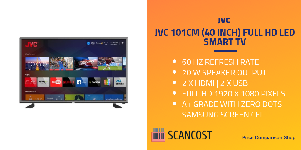 JVC 101cm (40 inch) Full HD LED Smart TV Specs And Features
